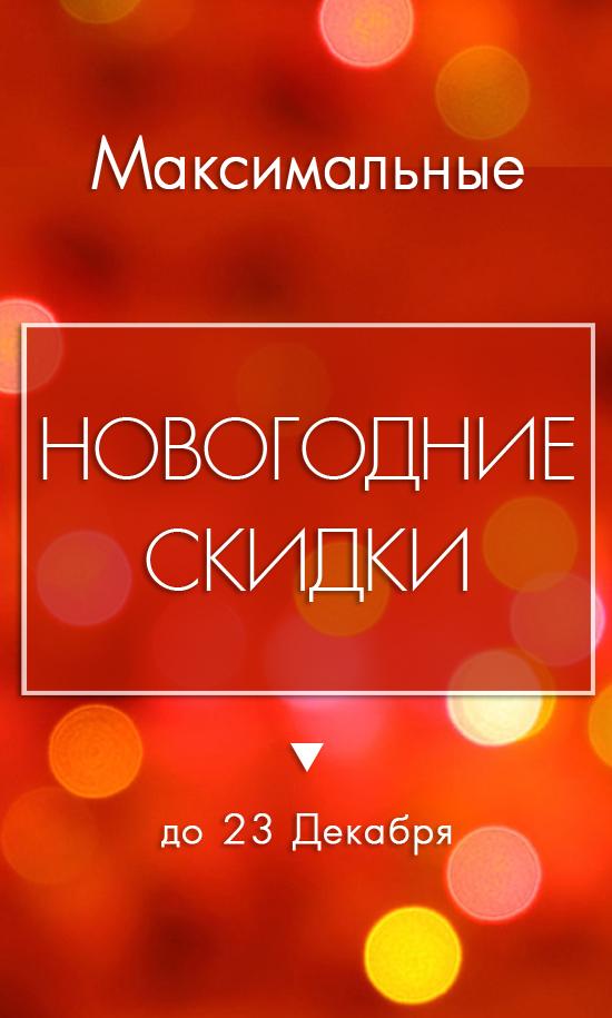 Максимальные Новогодние Скидки - до 23 декабря!